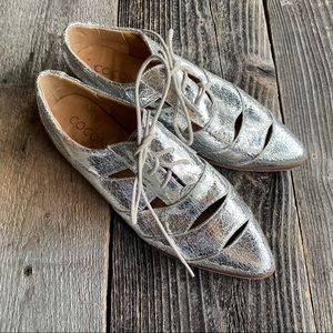 Coconuts By Matisse Silver Metallic Dress Shoes